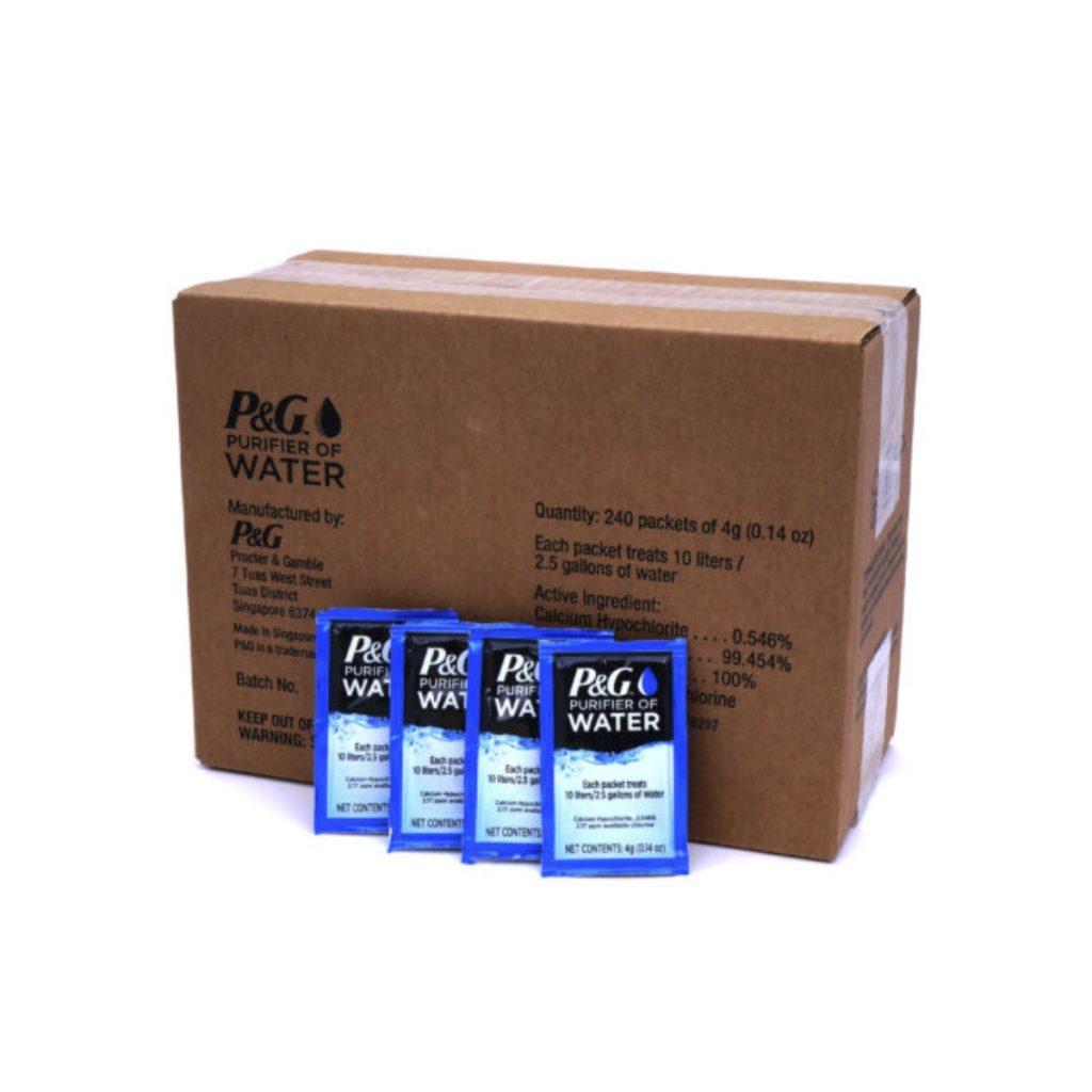 P&G Purifier of Water Sachets Box